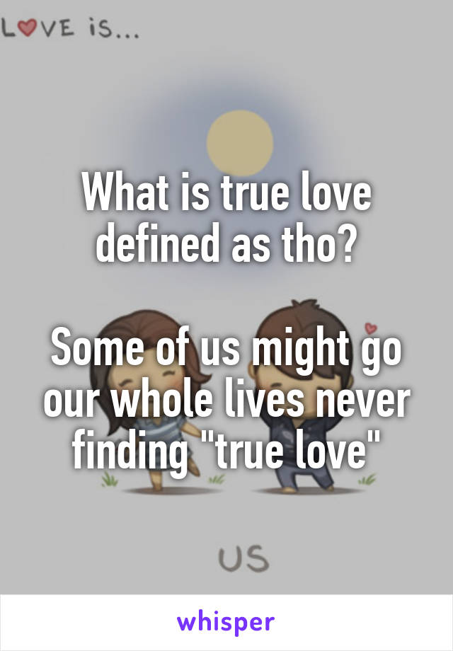 Never finding true love